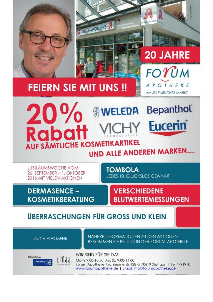 20 Jahre Forum-Apotheke Stuttgart